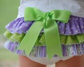Purple & Lime Ruffle Bloomers