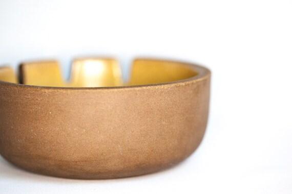 Edith Heath Yellow Glazed Ceramic Medium Size Ashtray