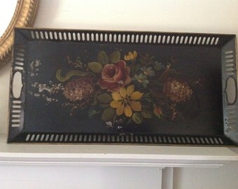 Vintage Rectangular Toleware Tray
