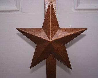 CUSTOM HAMMERED COPPER Primitive Star Wreath Hanger-Front Door Wreath-Door Wreath-Door Decor-Wreath Hook-Rustic Primitives Country Decor