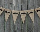 Burlap Banner- Mustache