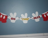 "Mickey Mouse Oh ""TWO"" Dles banner"