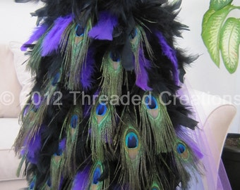 Peacock Feather Bustle Tail For Costume