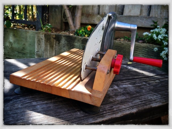 vintage hand crank meat slicer by potagercottage on etsy