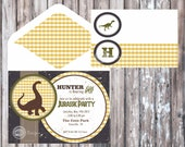 DINOSAUR PARTY Printable Invitation - Jurassic Party Invitation - Dinosaur Birthday Party - Dinosaur Invitation