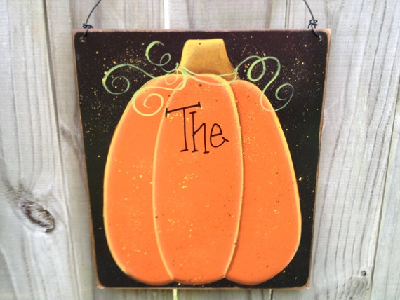 Personalized Pumpkin Sign Fall Home Decor