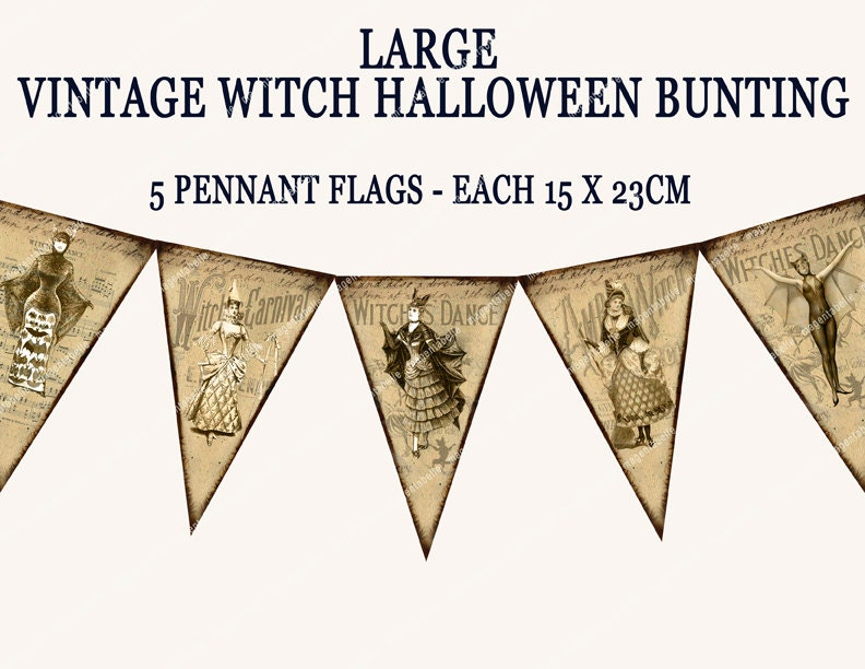 Halloween Bunting this vintage halloween bunting is a wonderfully versatile addition to add to your home decor this Zoom