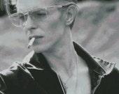 David Bowie cross stitch pattern 008