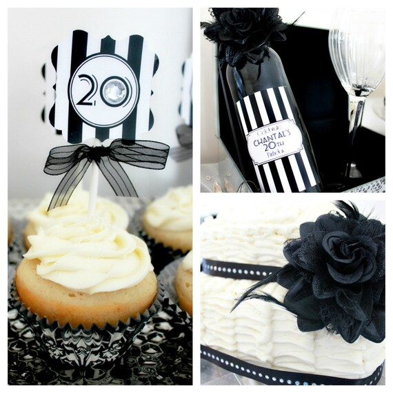 Items similar to roaring 20s birthday decorations black for 1920s decoration