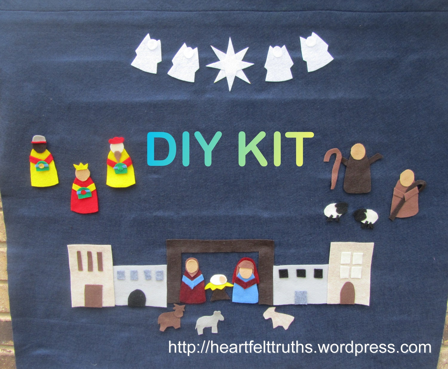 Advent Calendar Diy Kit : Christian advent calendar diy kit for christmas countdown in