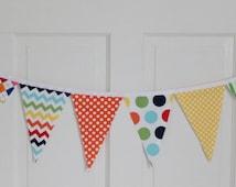 BIG TOP CIRCUS Fabric Bunting Pennant Banner