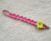 Crochet Binky Clip, Pacifier Clip, Soothie Clip