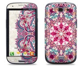 Floral Pattern - Samsung Galaxy S3/S4/S5 Phone Skin Decal Cover and Samsung Galaxy Note 2/3 Phone Skin Decal Cover