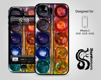 iPhone 5 Case, iPhone 5s Case, iPhone 5c Case - Watercolor Set - iPhone Case, iPhone 5G Case, Cases for iPhone 5, Hard iPhone 5 Case