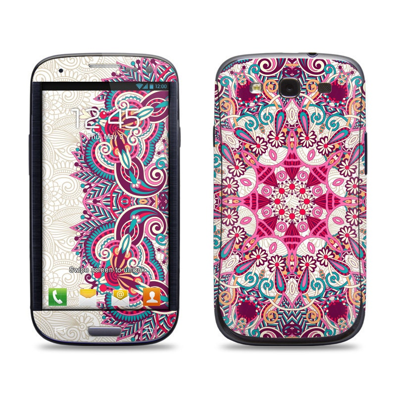 Floral Pattern Samsung Galaxy S3/S4/S5 Phone Skin by ...