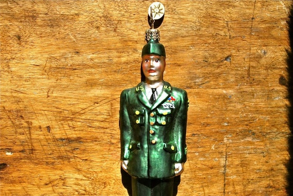 Radko Glass Ornament Soldier in Great Condition