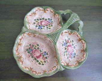 Vintage canape hande painted