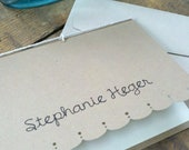 Stationary Set -- 10 cards and envelopes. Simple and Sophisticated -- Include Your Personal Message or Text