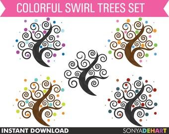 80% OFF Sale Tree Clipart, Clipart Trees, Tree Clip Art, Digital Trees, Clipart
