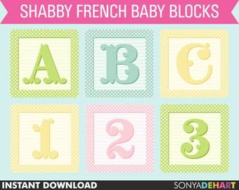 90% OFF SALE Baby Blocks Clipart, Baby Block Clip Art, Baby Block Alphabet, Alphabet Clipart, Baby Clipart, Baby Clip Art, Baby Girl Clipart