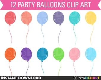 80% OFF Sale Birthday Clipart, balloon clipart, clipart balloons, balloon clip art, vector graphics, digital balloons