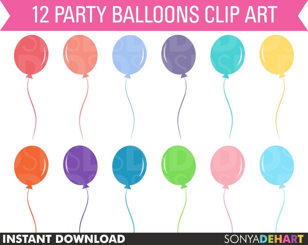 Clip art balloons - 80 Off Sale Birthday Clipart Balloon Clipart Clipart Balloons Balloon Clip Art Vector Graphics Digital Balloons