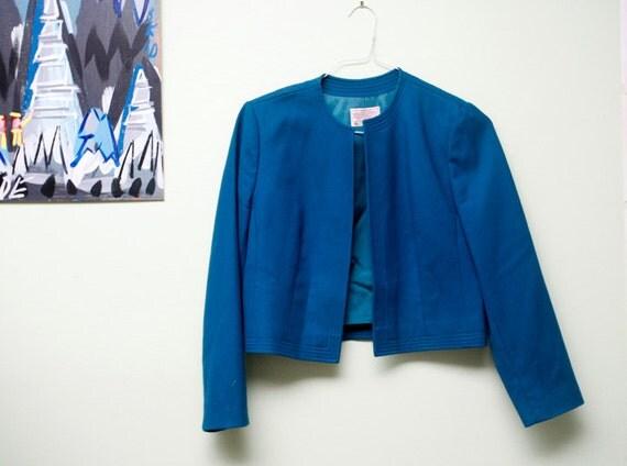 1960s Pendleton turquoise jacket // medium