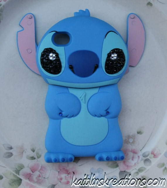 Blue Bling Stitch iPhone 4G Case