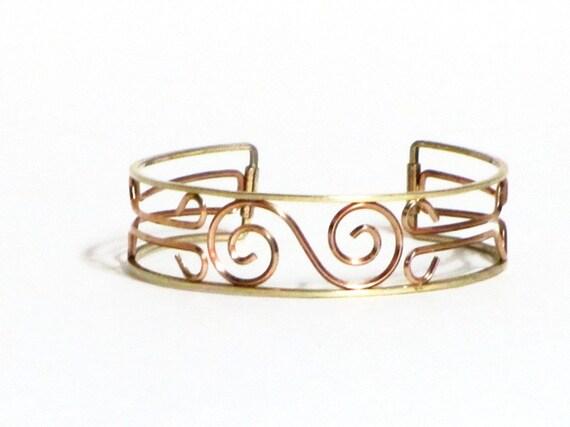 Vintage Krementz Bracelet, Cuff Bracelet, Scrollwork Bracelet, Gold, Rose Gold