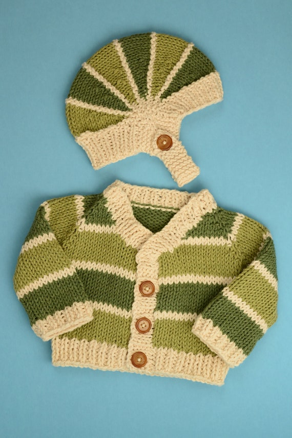 Lucky Little One Sweater and Hat Set - Newborn
