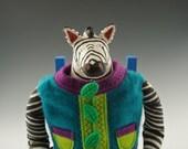 Zebra Art Doll