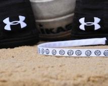 "Volleyball Headband No-Slip Printed Grosgrain Skinny 3/8"", 5/8"", or 7/8"""