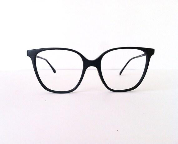 Vintage black glasses, 80 s style