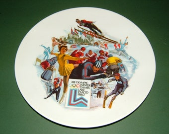 1980 Lake Placid XIII Olympic Winter Games Limited Edition Signed Official Plate
