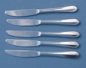 Set of 5 British Airways 1st Class Passenger Stainless Steel Knives by Berndorf Vintage Flatware Vintage Transportation Vintage Aeronautica
