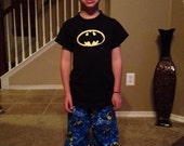 Boys Batman Flannel Lounge Set - Pant and Shirt - You choose size 12 Months to 4T