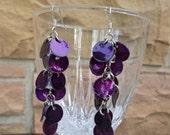 Dangle Earrings: cha-cha dangle earrings in purple