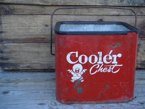 Vintage Ice Chest Eskimo Cooler Chest Vintage Antique 1950s