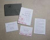 Anemone Wedding Invitation Sample Letterpress Featured in WellWed magazine