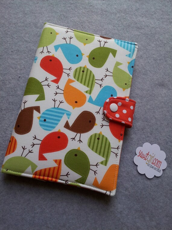 Kindle cover Nexus Case Nook cover Ipad Mini case eReader Cover  Book Style Zoologie Baby Birds Custom order