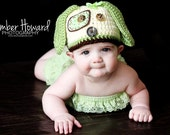 Baby Puppy Hat - Snickers Hat- Photography Prop - Newborn