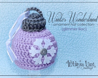 Baby Christmas Ornament Hat -Snowflake Ornament - Photography Prop - Holiday -Newborn
