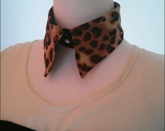 30%OFF SALE the first anniversary of the founding of my etsy shop leopard print cotton  peter pan  handmade collar.unique design