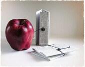 Set of 3 - Handmade Paper Pocket Notebook - Personal Journal - Houndbound - Medium - Vintage paper