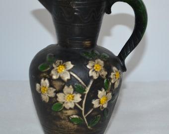 Vintage Plaster Pitcher Vase