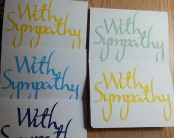 Sympathy cards set of 5