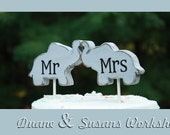 mr and mrs Love Elephant cake topper, custom, party favor, shower favors, wedding, home decor, spring decor