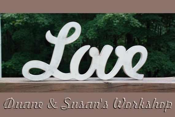 Love sign diy wedding decoration wall hanging wooden for Love sign