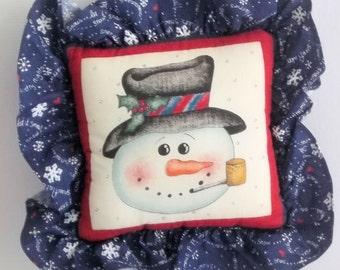 Small Mr. Snowman Pillow