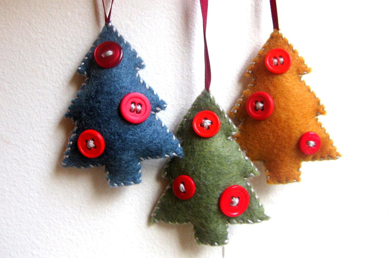 Felt Ornament Christmas Tree Christmas Ornament Handmade Felt